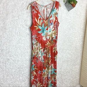 NWT Spense Tropical Floral Cropped Jumpsuit S